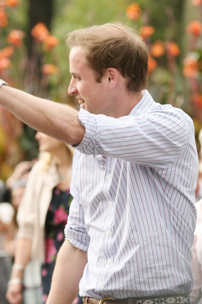 Prince William Waving