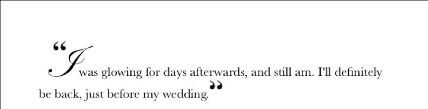 Miss Sandi Glowing Quote