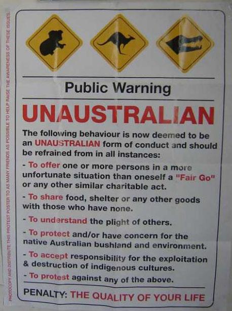 UnAustralian