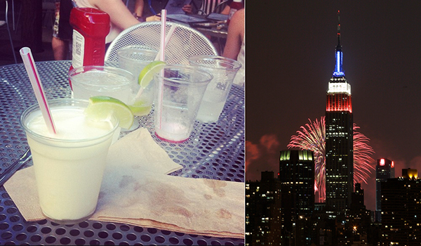 July Fourth in New York City. An Australian in New York.