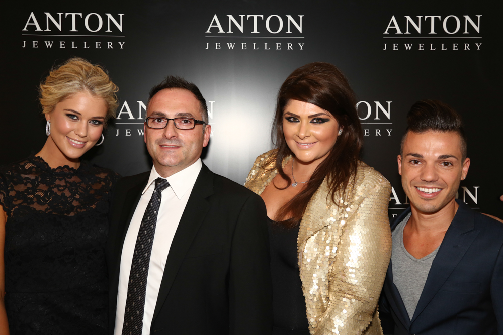 Scherri-Lee Biggs, Anthony Callea & Anthon Jewellery Directors Sevan Behar & Sesil Arzadian