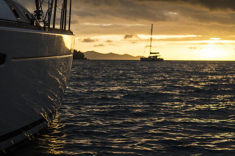Whitsunday's Boat Sunset