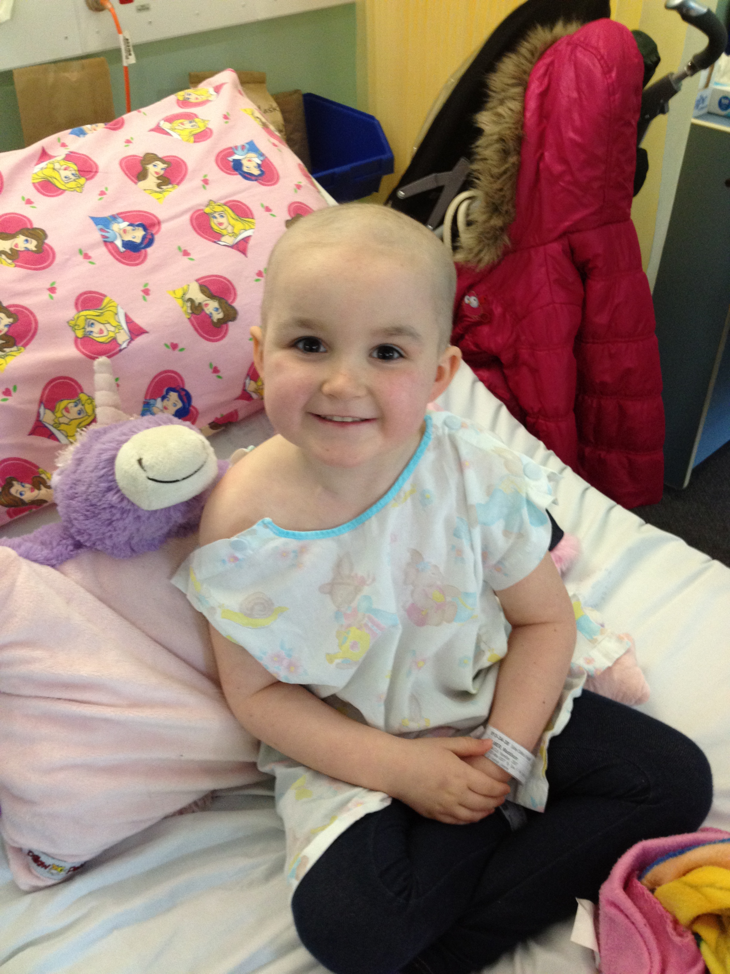 Maddy in hospital - Starlight Foundation
