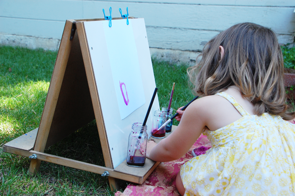Create an outdoor art area for your kids