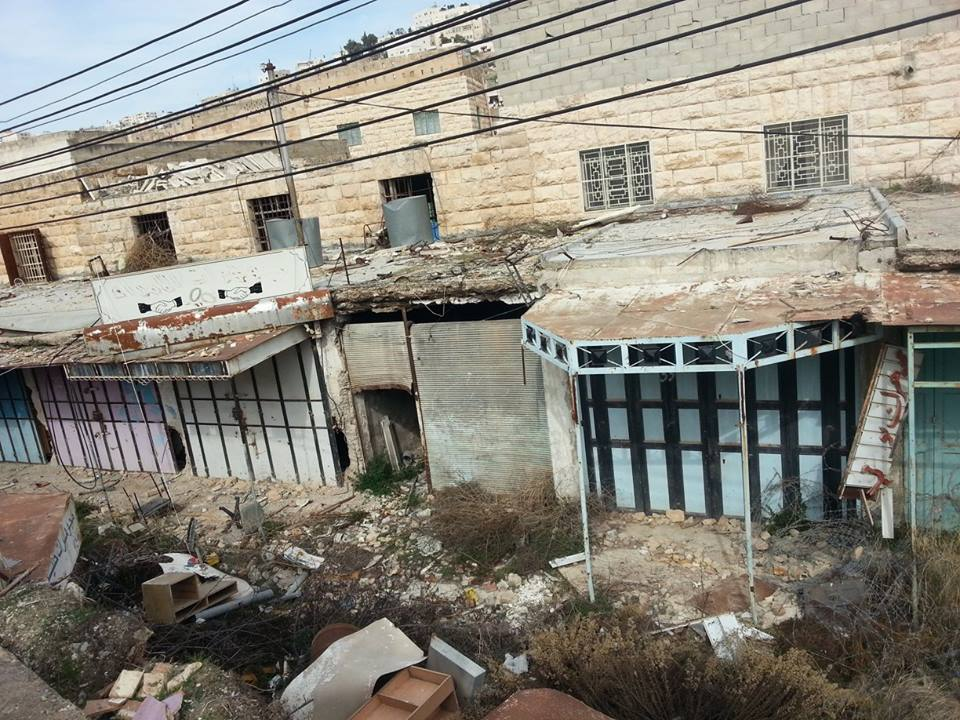 a street in the city of Hebron that was once a vibrant jewellery market but since the military's method of sterilization, has become abandoned. This area is referred to as the Ghost Town.