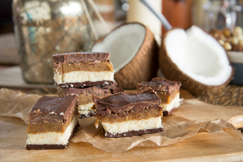 Caramel Almost Kit Kat Slice (Going Coconuts)