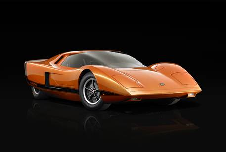 Image caption: General Motors-Holden Ltd, Melbourne (manufacturer), est. 1908, Holden Hurricane coupé, concept car, 1969 designed and manufactured, 2011 restored, mid-mounted high-compression 4.2L Holden V8 engine, 193kW 259bhp, transmission, rear wheel drive, 99.6 x 180.3 x 411.0 cm, designed and engineered by Don DaHarsh, Jack Hutson, Joe Schemansky and Ed Taylor, Collection of Holden Australia Ltd, Melbourne, © 2011 General Motors, Photo: Courtesy General Motors