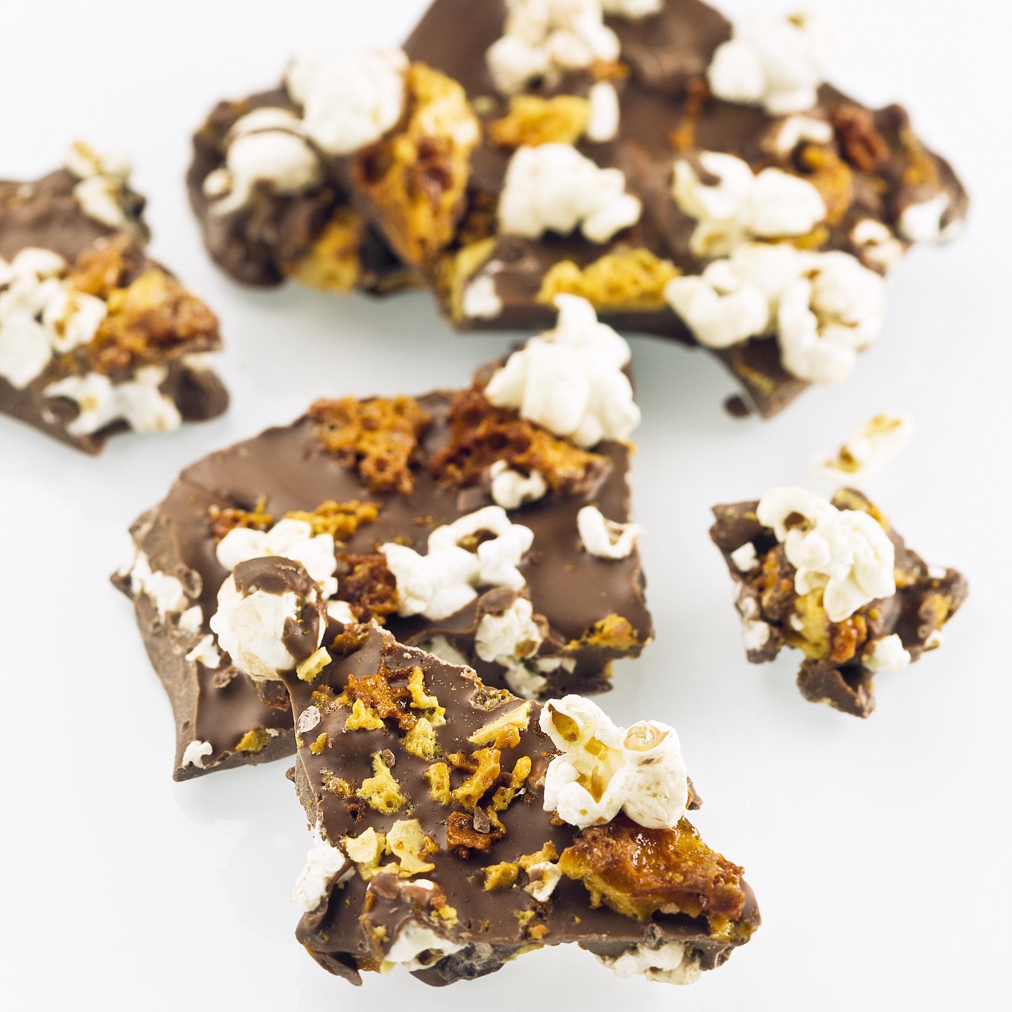 Darren Purchese Chocolate, Popcorn and Honeycomb Rubble Recipe