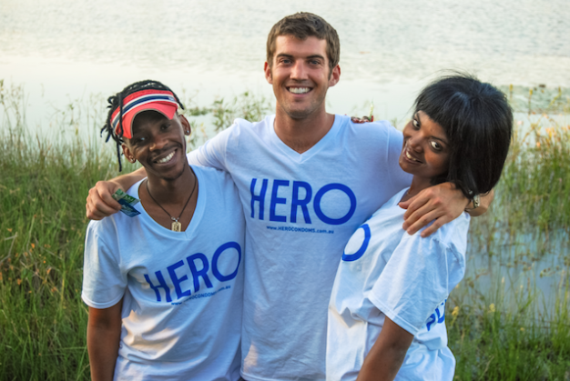 HERO founder Dustin Leonard pictured in the middle