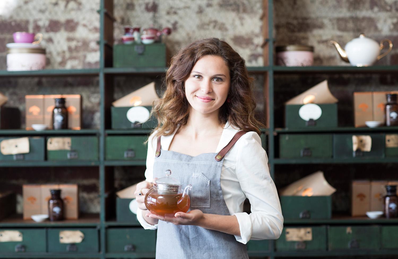 Sarah de Witt, Founder & Tea Sommelier, Impala & Peacock, 558 Sydney Road Brunswick Oct 2015 Pix3
