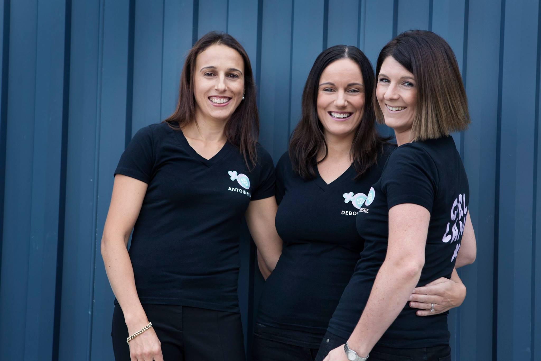 founders of Girl Lane, Deborah Williams, Kristie Jinks and Antoinette Truda