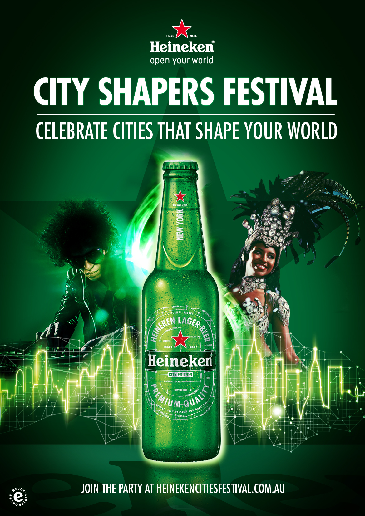 Heineken invites Australians to open their world with the launch of Heineken City Shapers Festival