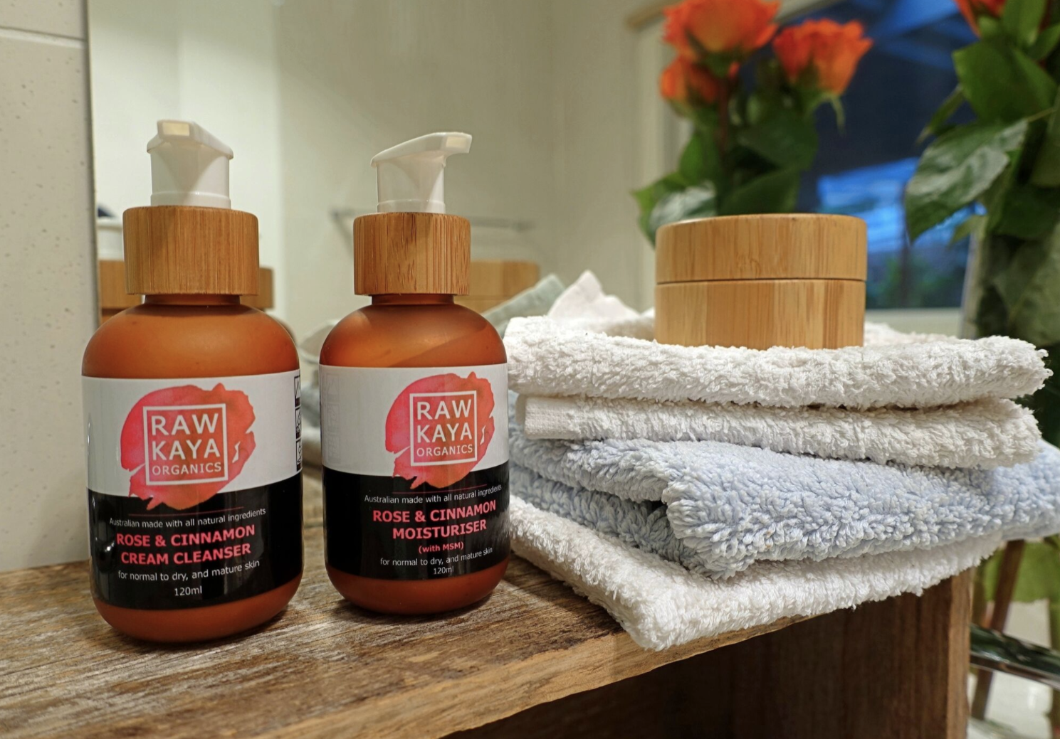 Raw Kaya Organics' Rose + Cinnamon skin food