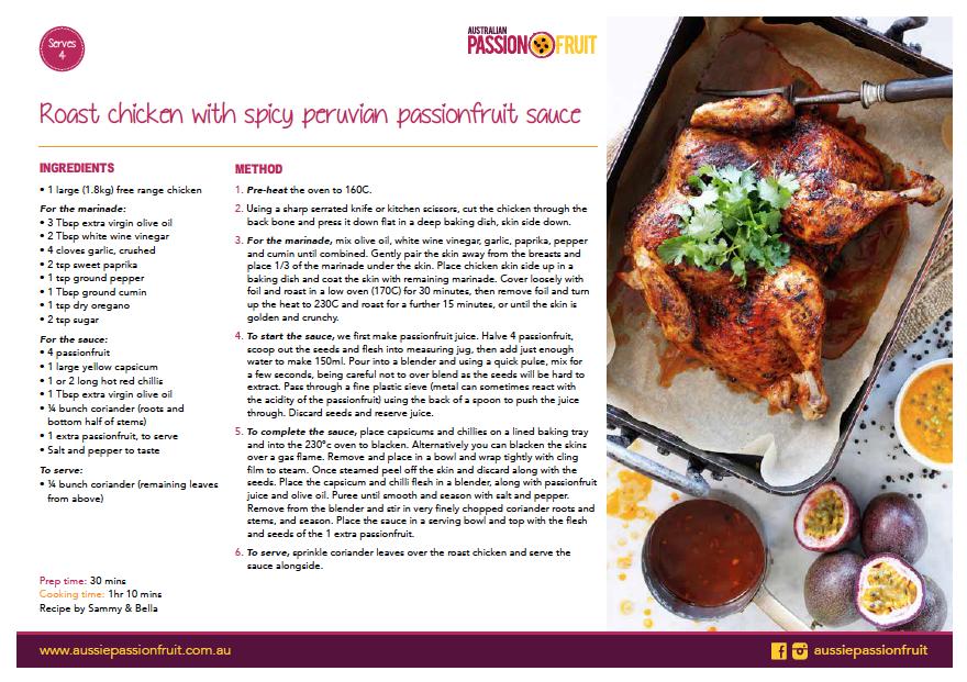 Passionfruit Sauce Recipe