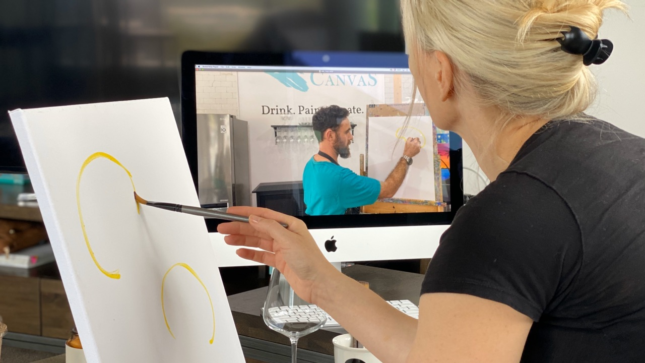 Cork & Canvas Launches On Demand Paint & Sip Sessions At Home